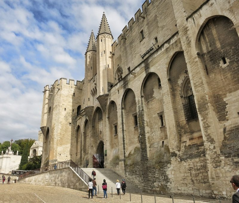 Exterior Palace of the Popes Avignon France