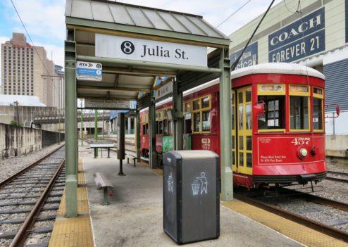 Julia Street Streetcar Stop New Orleans