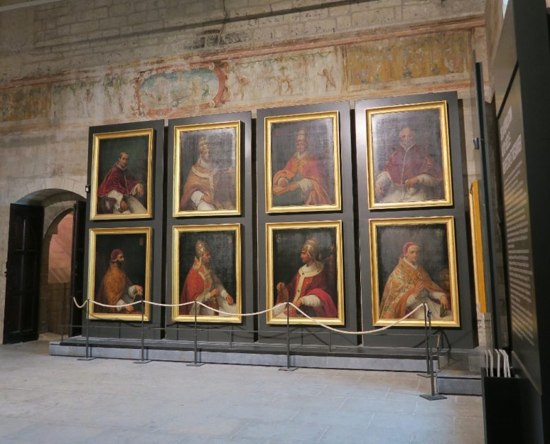 Portraits of Popes Notary Room Palace of the Popes Avignon France