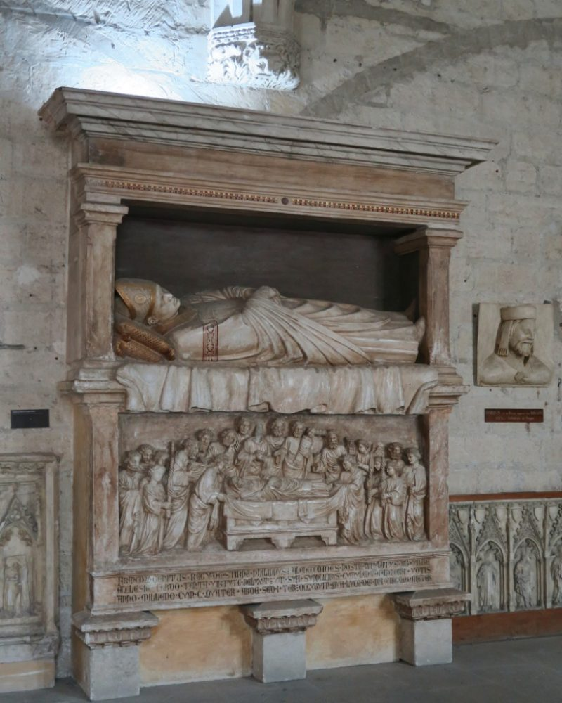 Replica Tomb of Gregory XI Palace of the Popes Avignon France