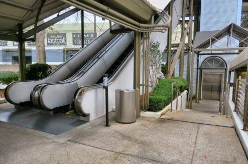 Riverwalk Escalators to Julia Street Station New Orleans