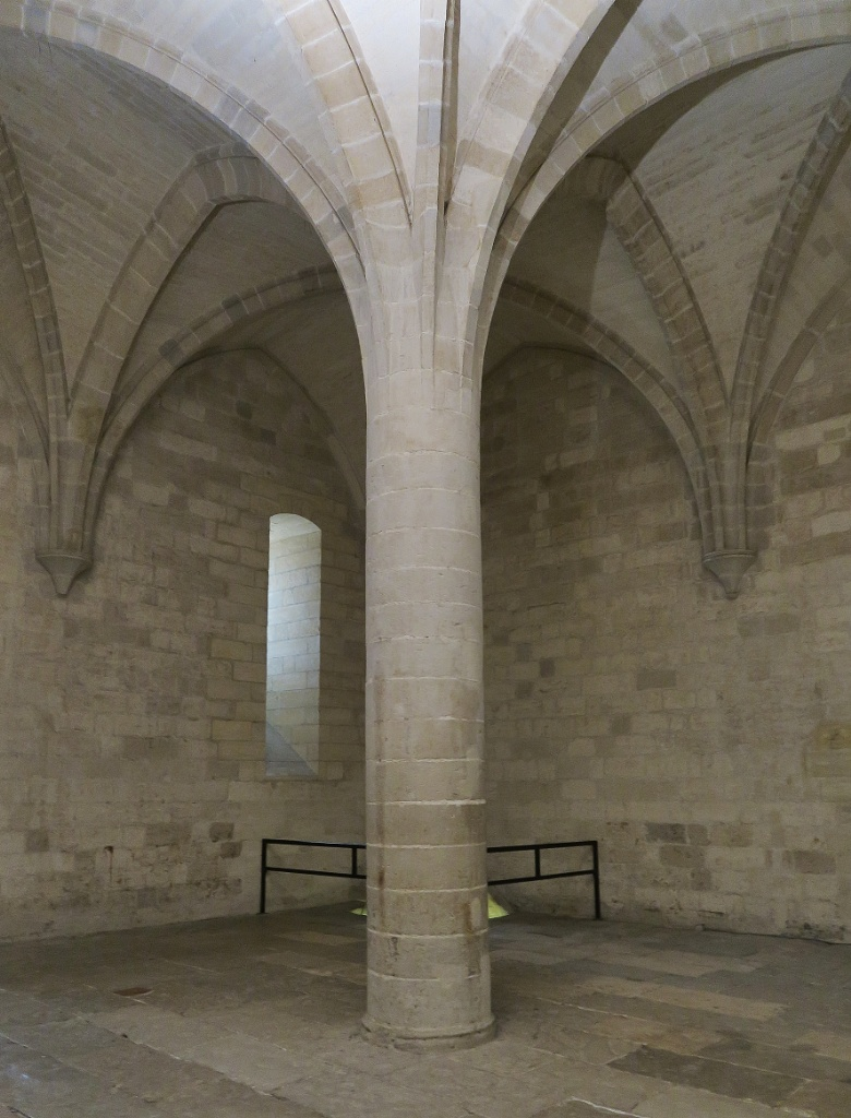 Stone Column Lower Treasury Palace of the Popes Avignon France