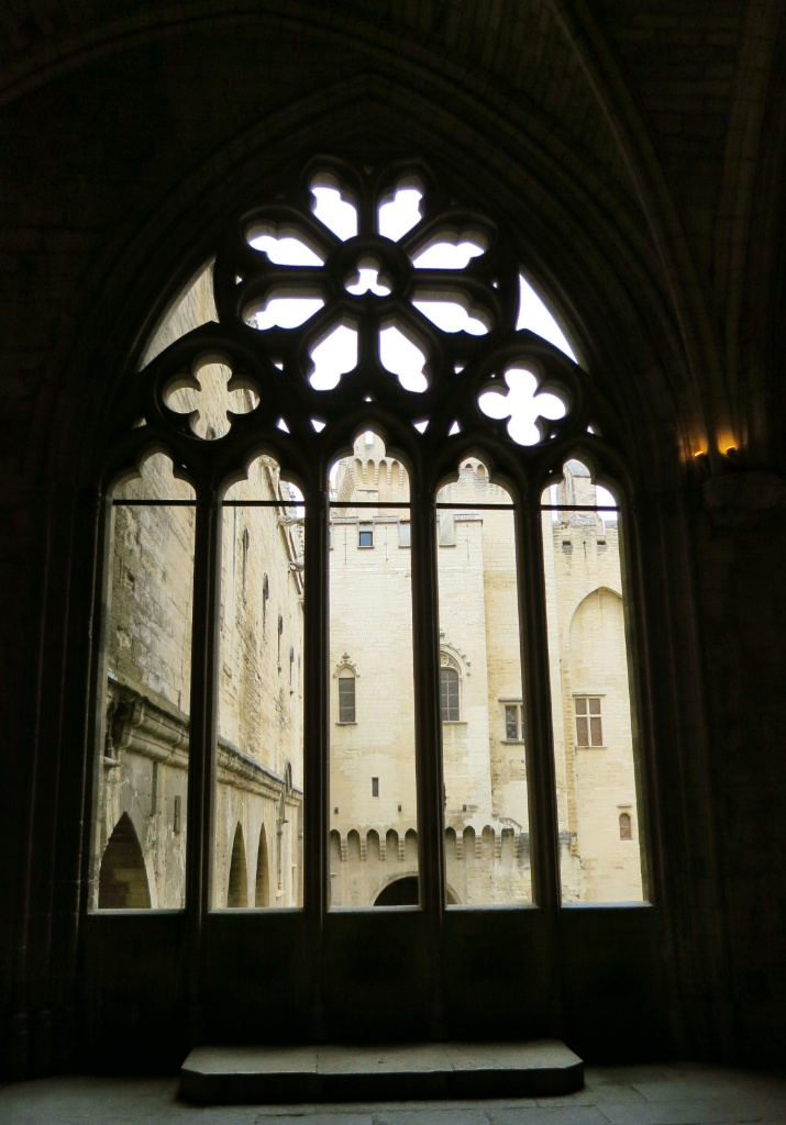 Window Palace of the Popes Avignon France