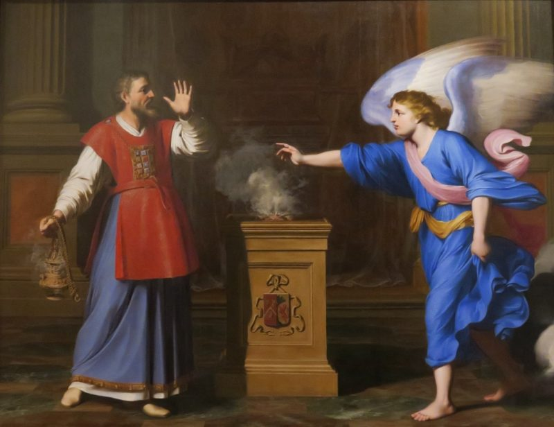 Archangel Gabriel Appears to Zachary by Levieux Musee Calvet Avignon France