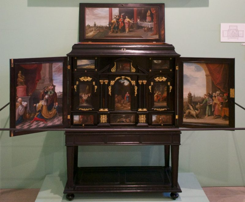 Ebony Cabinet with Paintings by Frans Francken Musee Calvet Avignon France