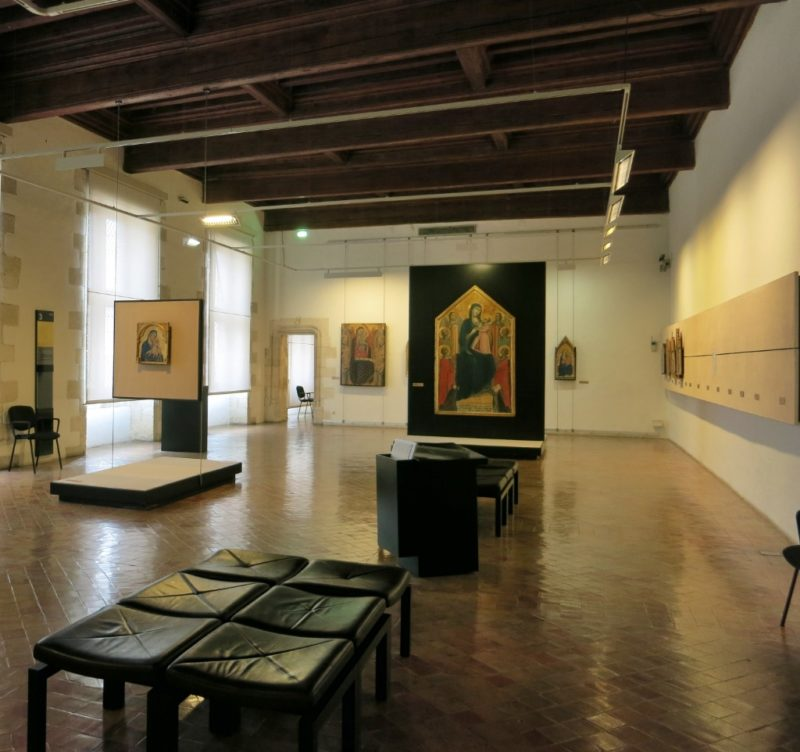 Gallery with Low Beamed Ceiling Musee du Petit Palais Avignon France