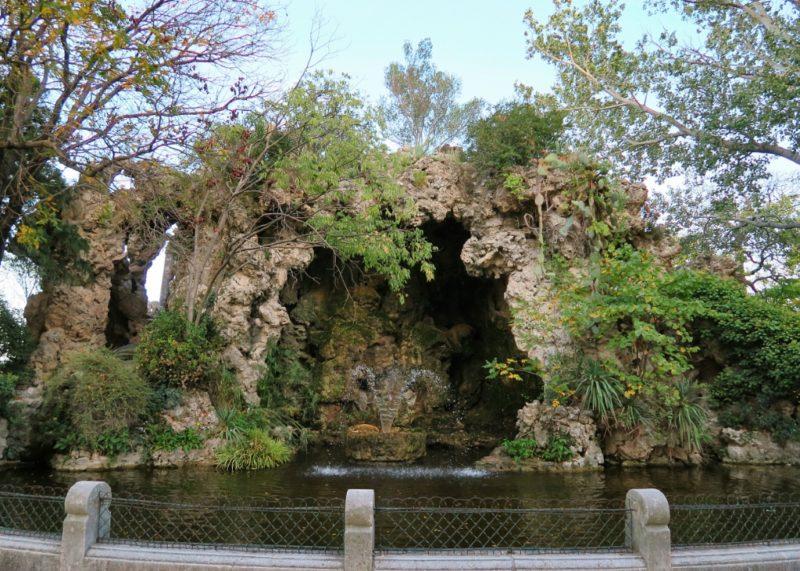 Grotto and Fountain Rocher des Doms Avignon France