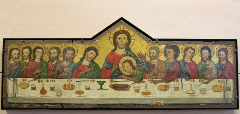 Painting of the Lords Supper Musee du Petit Palais Avignon France