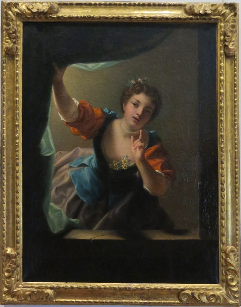 Silence or Woman Holding Curtain by Raoux Musee Calvet Avignon France