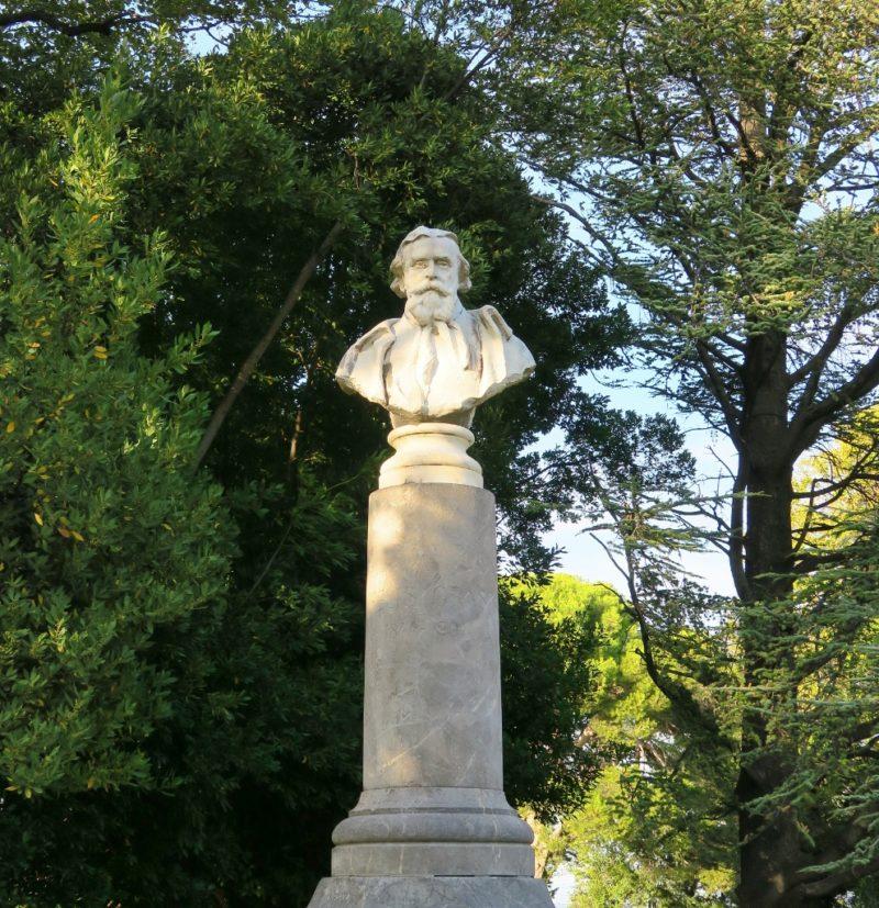 Statue of Felix Gras Rocher des Doms Avignon France