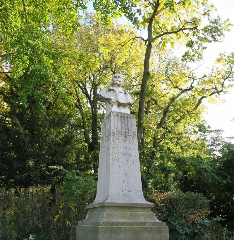 Statue of Jean Paul Marie Sain Rocher des Doms Avignon France
