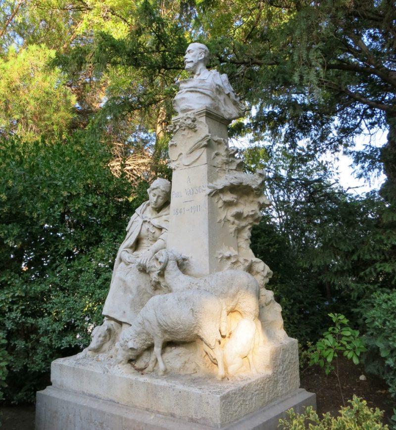 Statue of Paul Vayson Rocher des Doms Avignon France