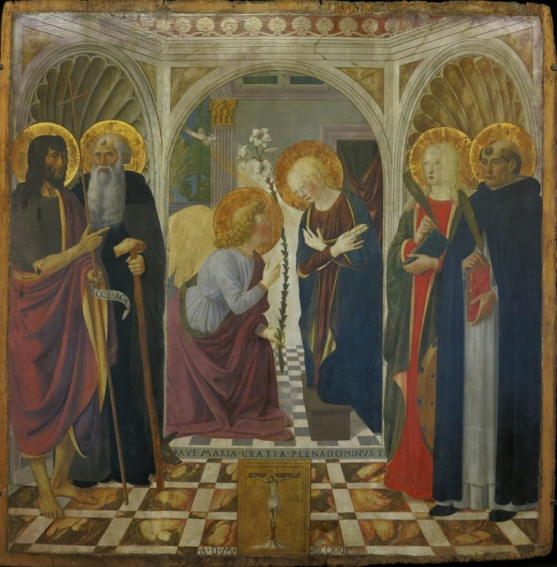 The Annunciation with Saints by Rosselli Musee du Petit Palais Avignon France