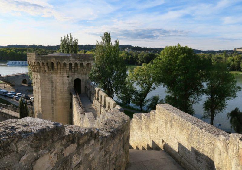 View of Rampart Rocher des Doms Avignon France