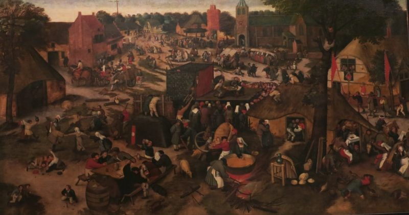 Village Fair with Theater and Procession by Pieter Bruegel Musee Calvet Avignon France