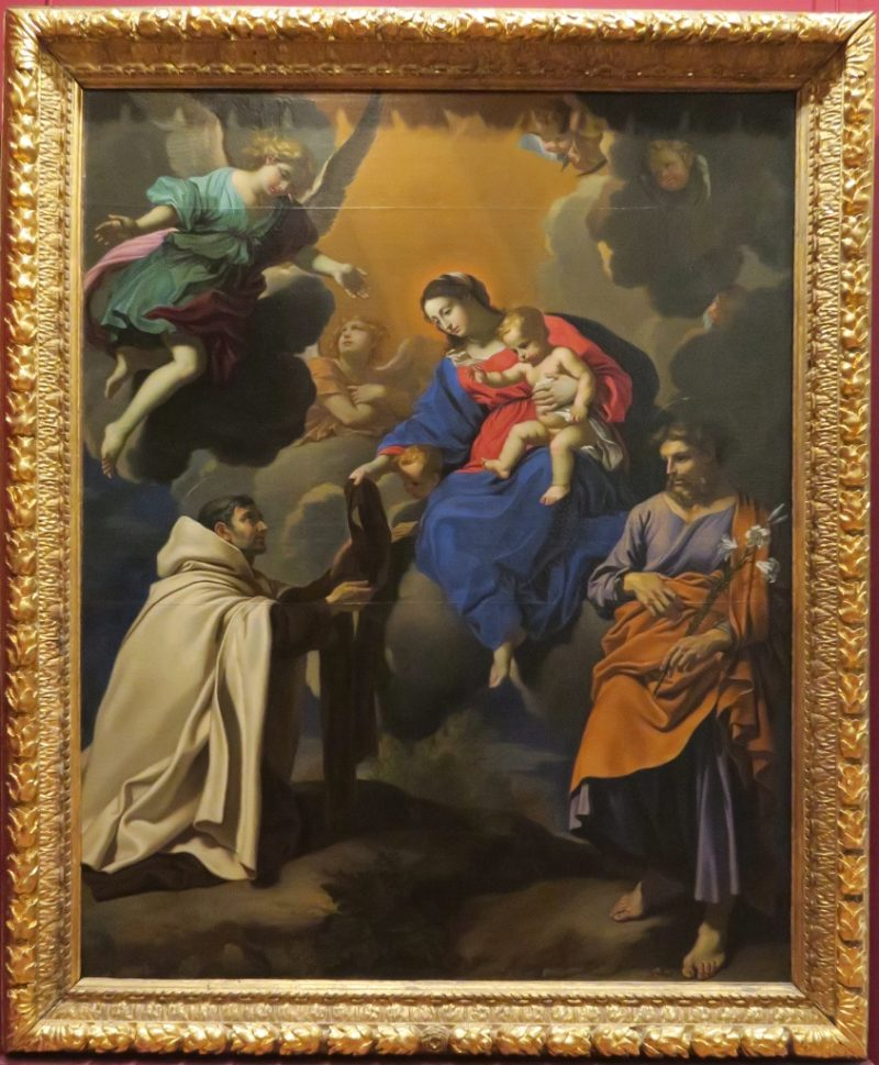 Virgin and Saint Simon Stock by Nicolas Mignard Musee Calvet Avignon France