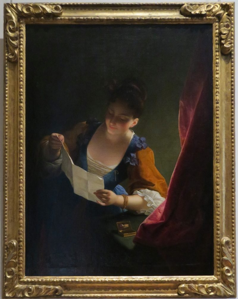 Young Woman Reading a Letter by Jean Raoux Musee Calvet Avignon France