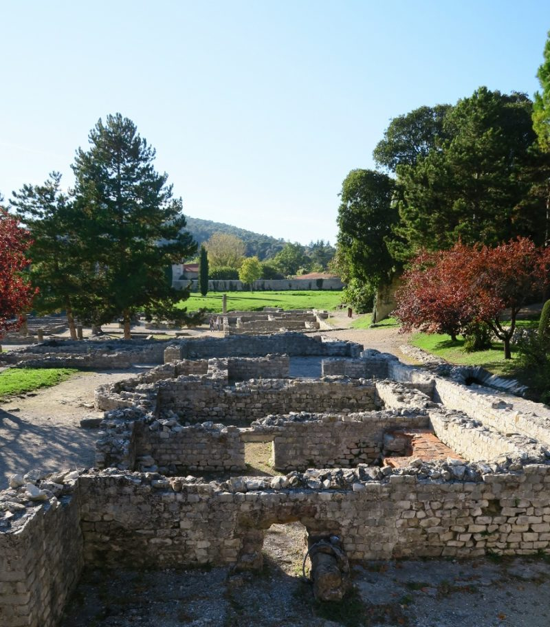 Ruins of Roman Villa La VillasseVaison la Romaine France