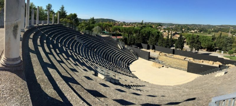 View of Antique Theatre Puymin Vaison la Romaine