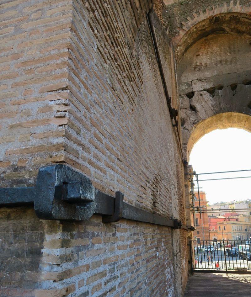 Cast Iron Support Braces Colosseum Rome