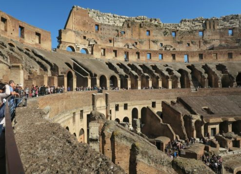 Remnants of Seating Colosseum Rome