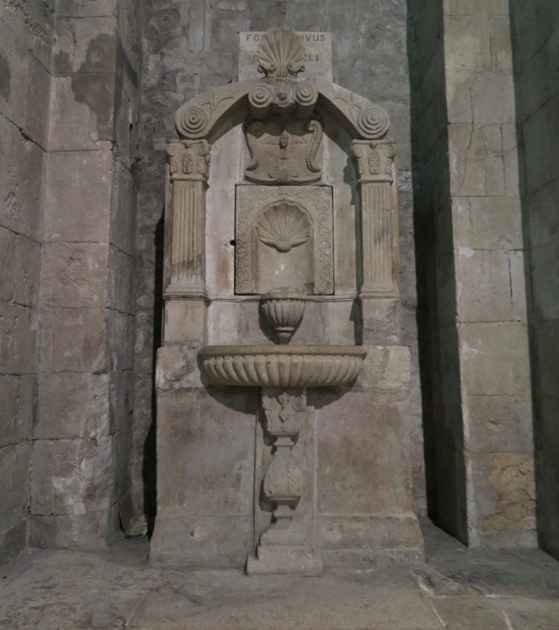 Stone Font Cathedral of Vaison la Romaine France