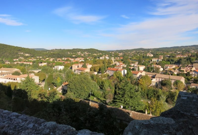View from Bishopric Vaison la Romaine France