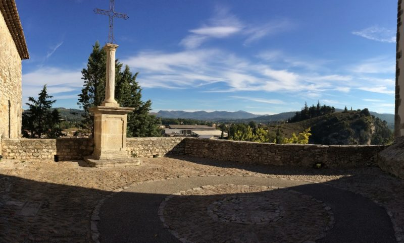 View from High Cathedral Vaison la Romaine France