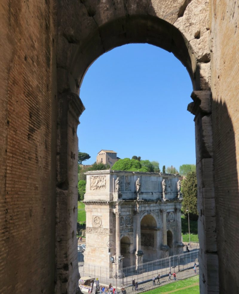 View of Arch of Constantine Colosseum Rome