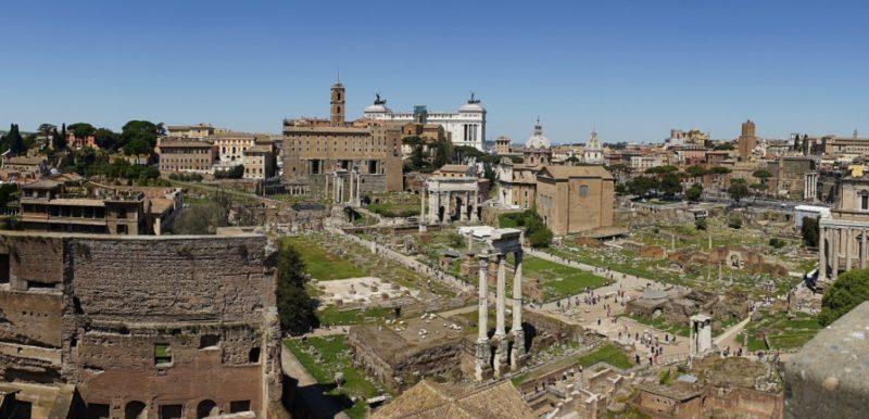 View of Forum Colosseum Rome