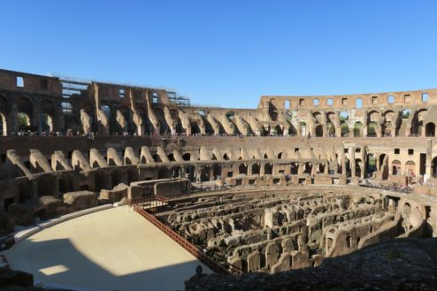 Wide View of Arena Colosseum Rome