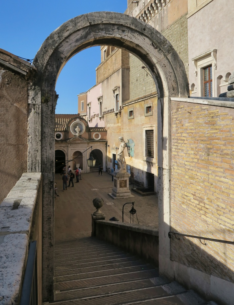 Archway to Courtyard of the Angels Castel Sant Angelo Rome Italy