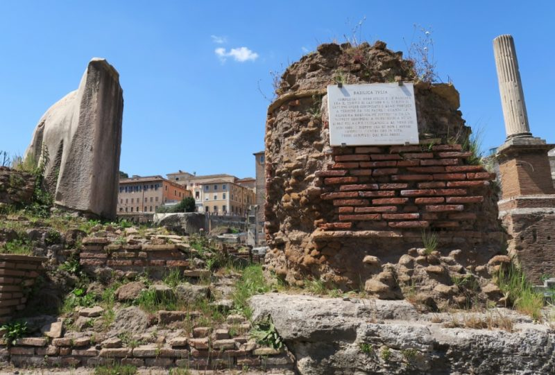 Basilica Julia Roman Forum Italy