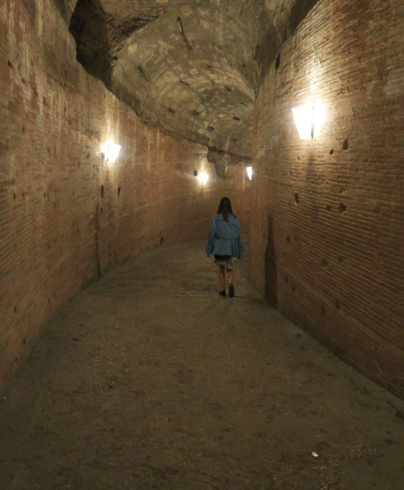 Brick Passageway with Spiraling Ramp Castel Sant Angelo Rome Italy