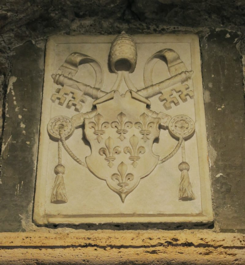 Coat of Arms Pope Paul III Castel Sant Angelo Rome Italy
