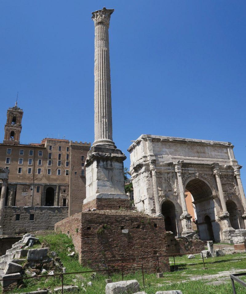 Column of Phocas Roman Forum Italy