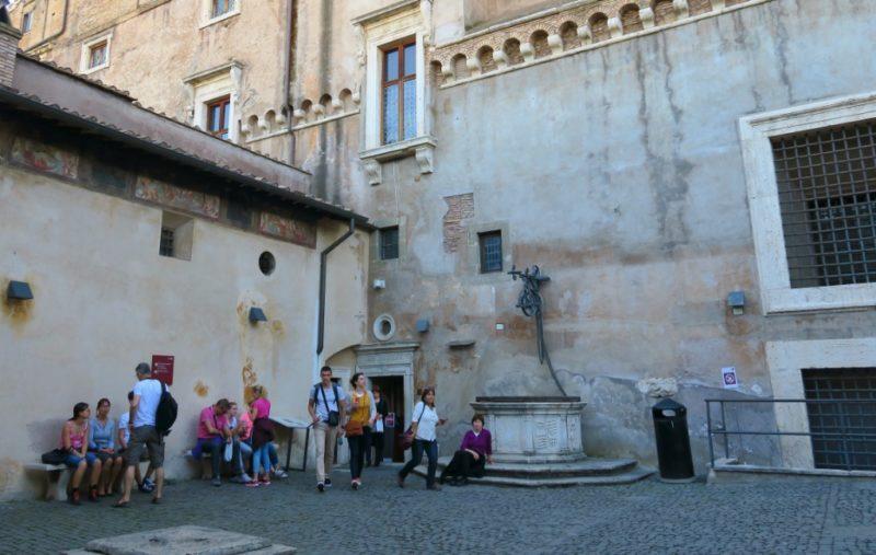 Courtyard of Alexander VI Castel Sant Angelo Rome Italy