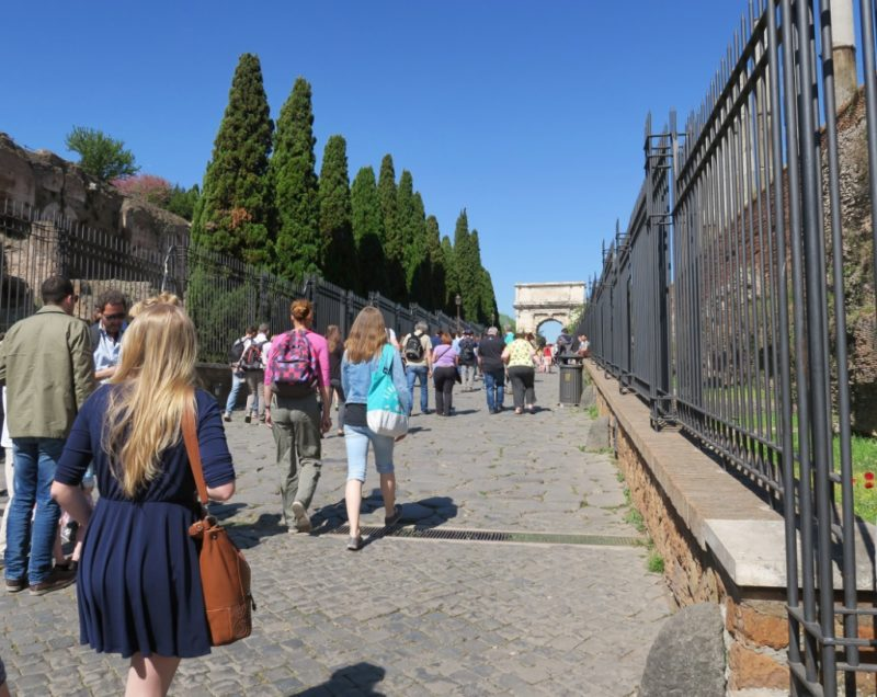 Entrance to the Roman Forum Italy