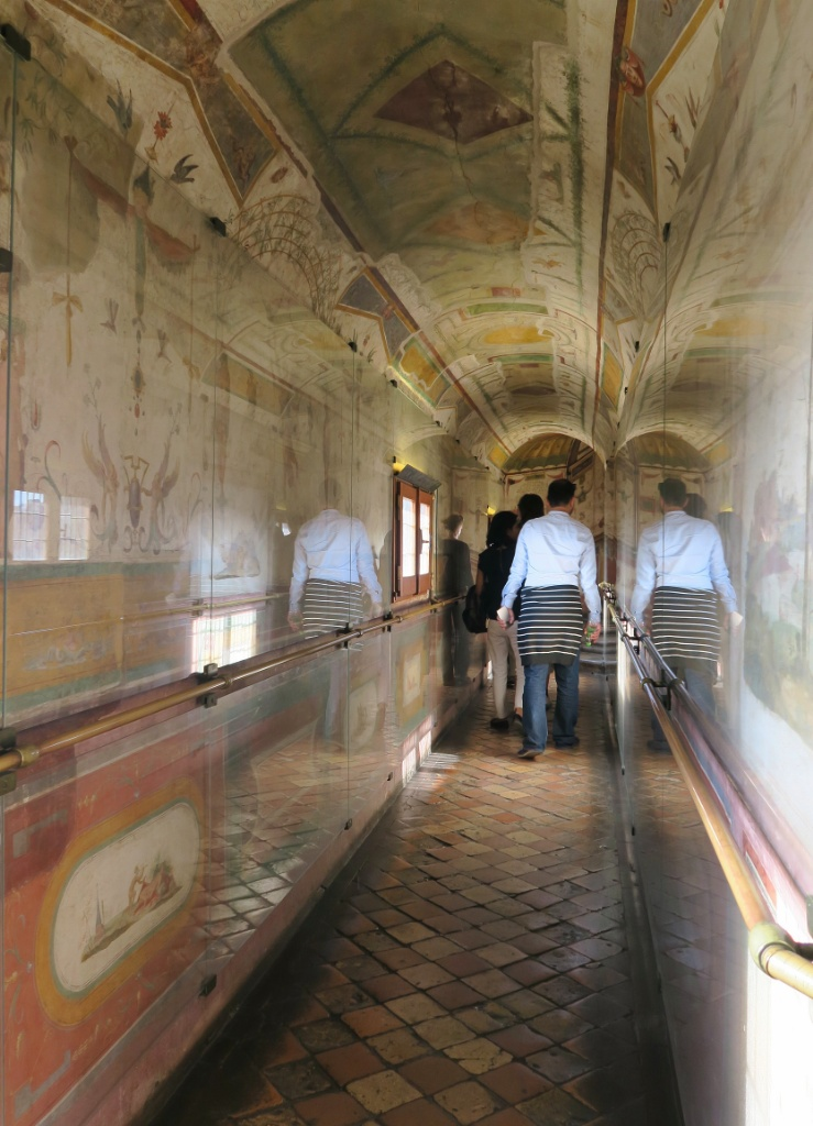 Frescoed Passageway Castel Sant Angelo Rome Italy
