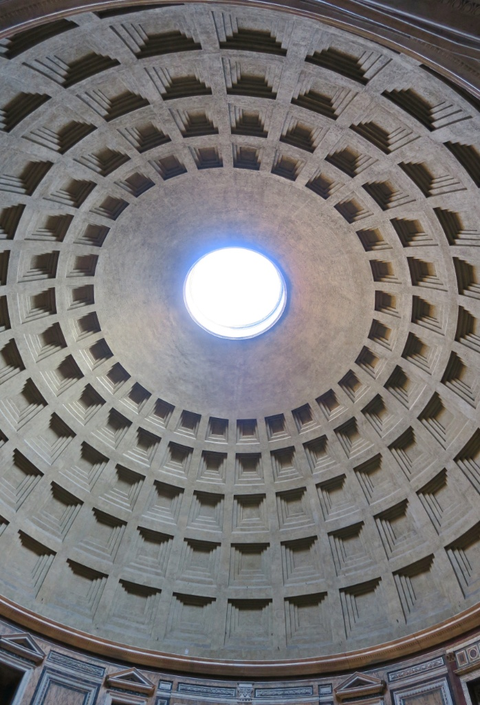 Oculus and Coffered Dome Pantheon Rome Italy