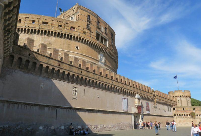 Ramparts Castel Sant Angelo Rome Italy