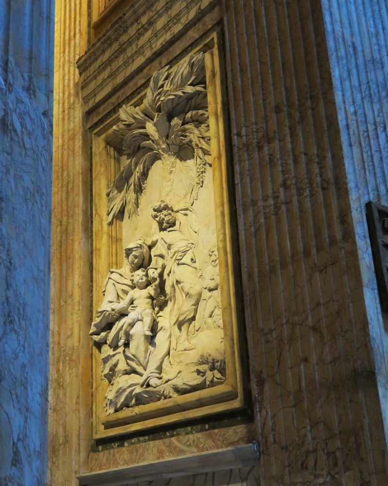 Relief by Carlo Monaldi Pantheon Rome Italy