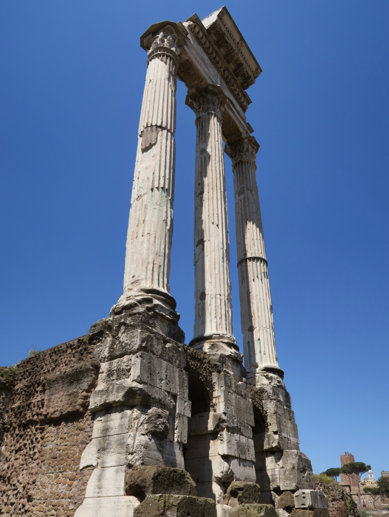 Temple of Castor and Pollux Roman Forum Italy