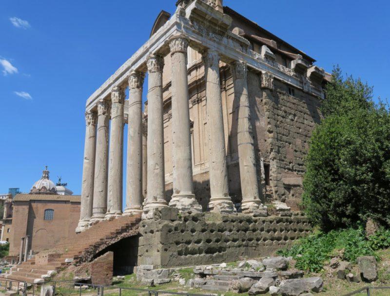 Temple of Faustina and Antonius Pios Roman Forum Italy