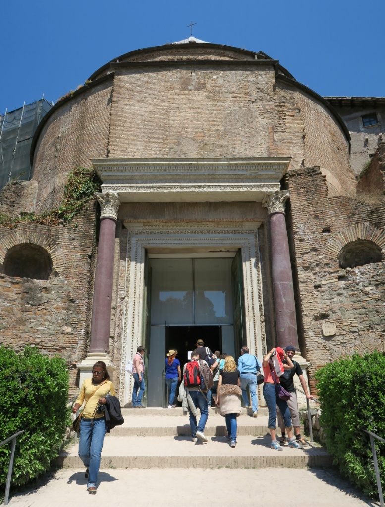 Temple of Romulus Roman Forum Italy