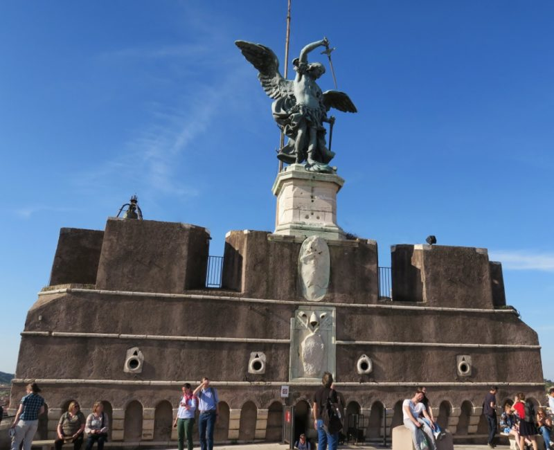 Terrace of the Angel Castel Sant Angelo Rome Italy
