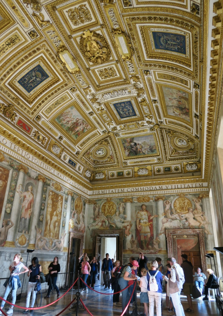 The Pauline Hall Ceiling and Frescoes Castel Sant Angelo Rome Italy