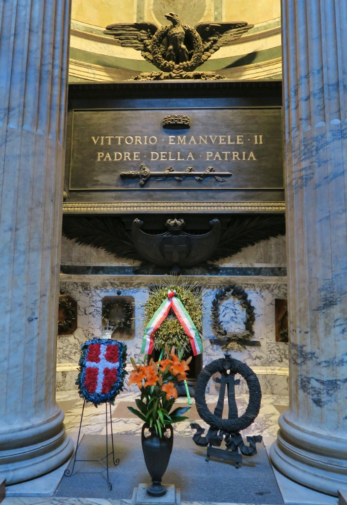 Tomb of Victor Emanuel II Pantheon Rome Italy