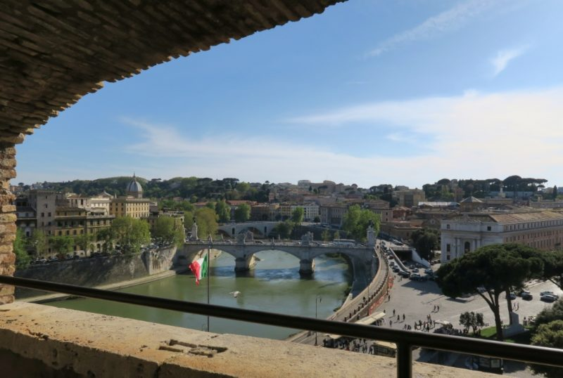 View from Castel Sant Angelo Rome Italy