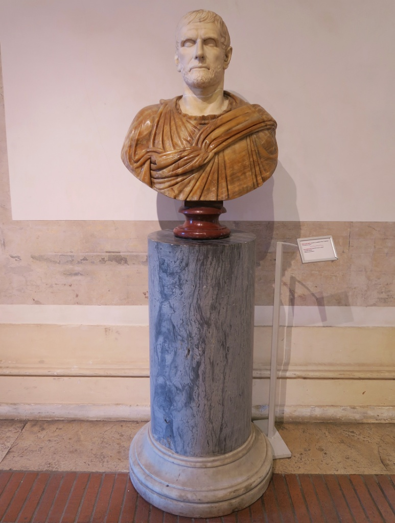 Bust of Brutus Baths of Diocletian Rome Italy